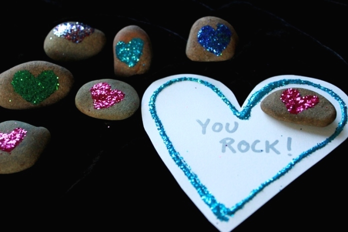 Rock Valentine Art Project 25
